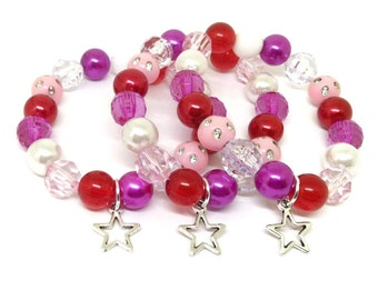 American Girl party favors bracelets - Now in organza bags