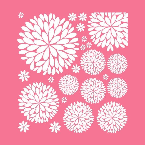 gallery photo gallery photo gallery photo ...  sc 1 th 225 & The Original Dahlia Flower Vinyl Wall Decal | Flower Decal