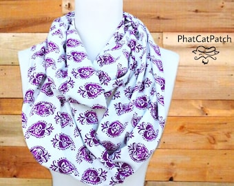 Boho Scarf, Purple Scarf, Boho infinity scarf, Soft scarf, Spring scarf, Women's scarves, clothing gift, Mother's Day scarf, gifts for Mom