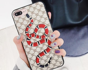 Luxury Snake Bees soft silicone original for iphone x 8 8plus 6 6s plus 7 7Plus couple gift cover Fundas