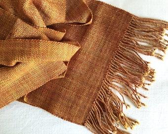Plaiding Schal - handgewebt - Merino, Nylon - herbstliche Blätter