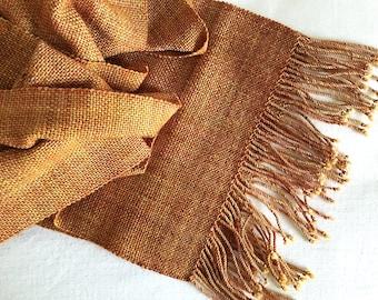 Plaiding Scarf - Handwoven - Merino, Nylon - Autumnal Leaves