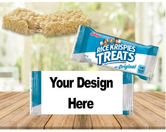 Rice Krispies, crispy Treat wrapper Template, printable, download, customize, personalized, label
