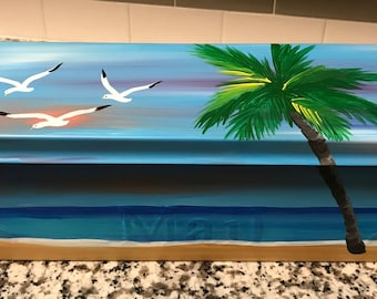 Beach Mailbox, Palm Trees Wall Mount Mailbox. Ready to ship!