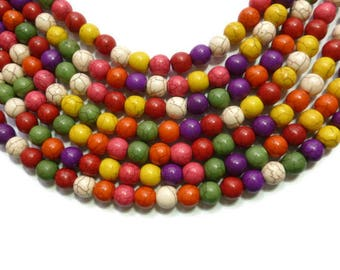set of 20 10 mm howlite beads