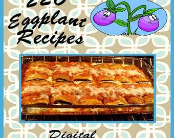 220 Eggplant Recipes E-Book Cookbook Digital Download