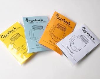 Mason Jar Handle - SET OF 4 - for Mason Jars or ANY Jar!