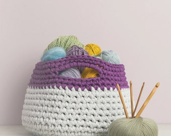 Chunky Yarn Basket Crochet Pattern Download (803953)