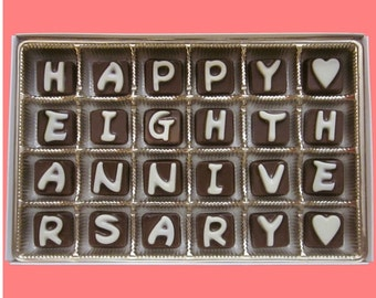 8th Anniversary Gift 8 Years Wedding Anniversary Gift for Husband from Wife Gift Happy Eighth Anniversary Love Gift Cubic Chocolate Letters