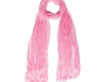 Romantic Pink Crinkle Scarf