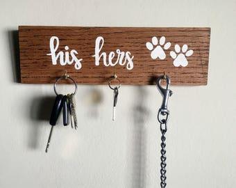 His, Hers, Pup's - Key & Leash Hooks