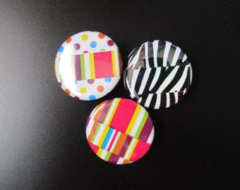 Colorful Tape Pinback Buttons