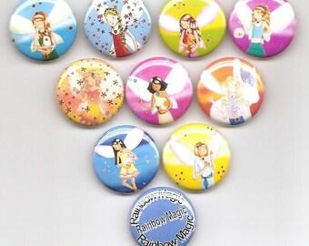 Rainbow Magic 10 Pins Button Badge Pinback