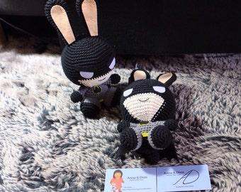 Amigurumis, stuffed, plush animal, rabbit, super hero
