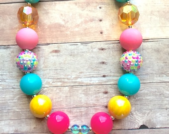 Easter Egg - Easter - Chick - Chicken - Easter Necklace - Easter Chick - Easter Bunny - Yellow - Spring - Chunky Bead Necklace