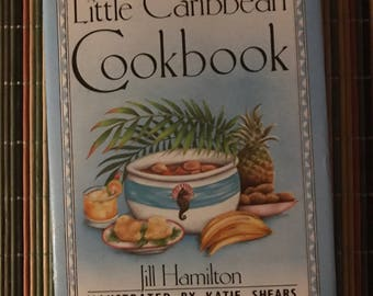 1990 A Little Carribean   Cookbook hardcover small cool cookbook traditional foods