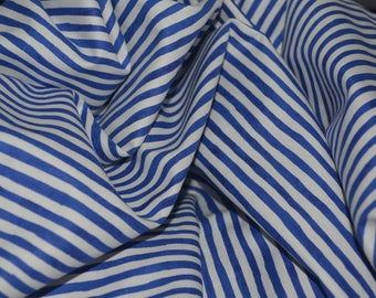 Summer cotton fabric Robert Kaufman quilt fabric by the half yard patriotic Patriots 4th of July Blue and White Nautical Striped fabric