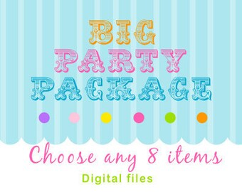 Custom Big Party Package - Pick ANY 8 items