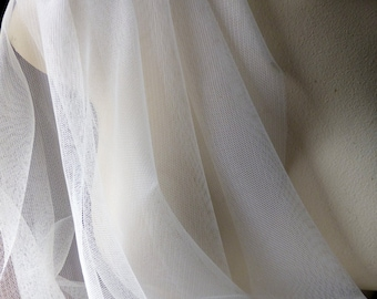 SECOND QUALITY - 2 yds IVORY Soft Tulle English Net for Bridal, Veils, Skirts, Costumes