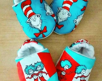 Cat in the Hat inspired Baby/Kid shoes