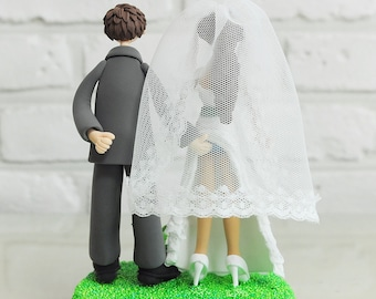 Wedding Cake Topper - Custom Cake Topper - Sensual Theme Topper - Funny Cake Topper -  Custom Wedding Cake Topper