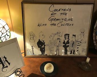Greenbrier caricature//Greenbrier resort//Caricature Artist//Home Decor//Whimsical art