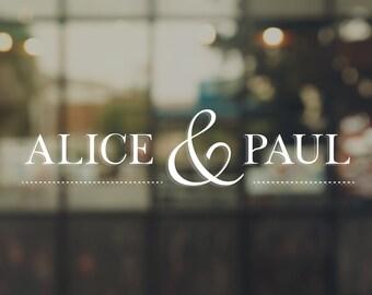 Wedding - Alice & Paul sticker