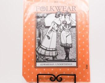 Folkwear Edwardian Underthing's Chemise Sewing Pattern #203 | Woman Sizes xs sm med lg xl xxl xxxl | Historical Costume Pattern | slip
