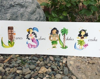 Family Member, Group Name Painting - Custom, Made to Order