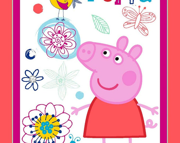 PEPPA PIG PANEL. Children's Cloth Panel by Nick Jr. 43 x 46 inches