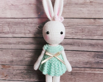 Crochet Amigurumi Bunny Stuffed Soft Toy Super Cute and Adorable Baby Gift Idea
