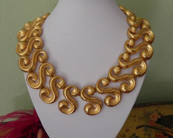 Chunky Bold KJL, Couture Necklace, Signed