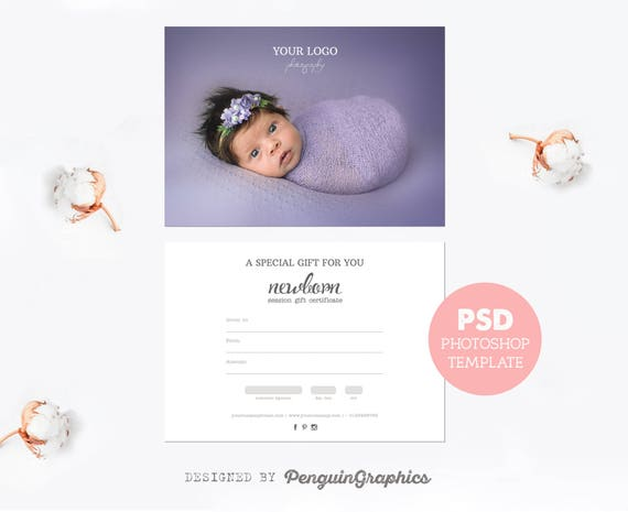 Gift Certificate Template Photography Mini Session Gift Card