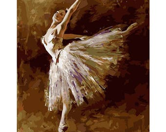 The Ballerina Paint by Number Kit