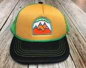 "Toddler Trucker Hat with ""5 Peak Mountain"" Pa..."