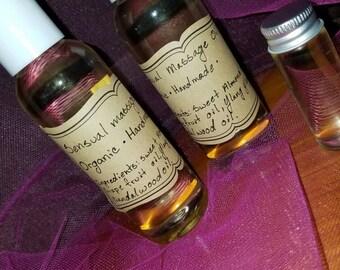 Organic sensual massage oil