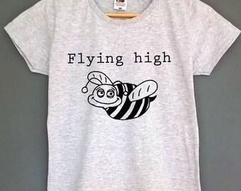 flying high t shirt bee shirt high shirt high top tee high t-shirt high tshirt bee top tee bee t-shirt bee tshirt womens clothing gifts top