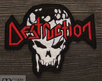 Patch Destruction logo Trash Black Metal band.