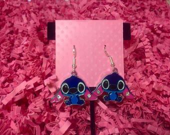 Disney earrings, Disney jewelry, Stitch, Lilo and Stitch, Fish extenders, Disney cruise