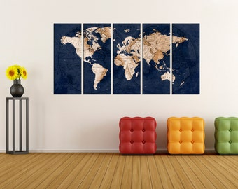 Extra large wall art canvas abstract world map wall art abstract wall art old world map wall art print large world map wall art gumiabroncs Image collections