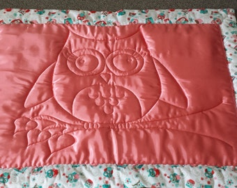 Baby quilt, Comfort quilt, Security blanket, Minky quilt, Cuddle fabric and Satin baby quilt