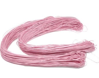 1 meter thread waxed cord 1 mm pink