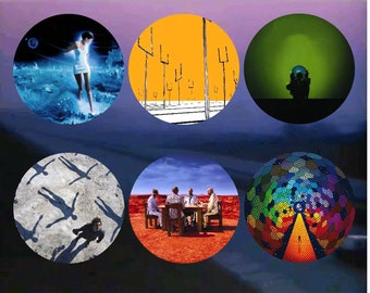 Muse Album Covers 2-1/4 Pinback Buttons