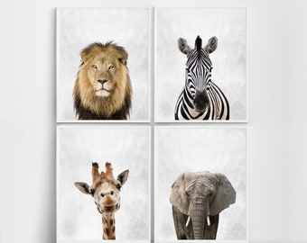 Nursery Prints Safari Nursery Art Print  Nursery  Safari Prints Safari Wall Art Nursery Safari Nursery Animals Zebra Print Elephant Print