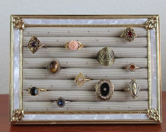 Ring Display Stand | Metal Ring Organizer | Jewelry Organizer Stand | Ring Display Stand | Metal Ring Display | Framed Jewelry Organizer