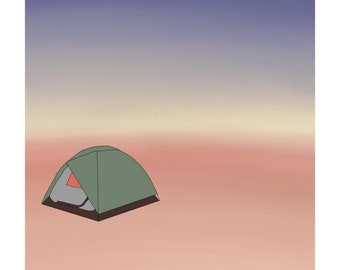 Home Away From Home | Camping in Southern Utah Drawing and Watercolor
