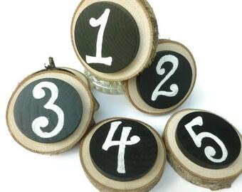 Chalkboard Wood Slices - Banner - Chalkboard Sign - Wood Slice Chalkboard - Rustic Wedding Decor - Chalkboard Tags - Tree Slice - Chalkboard