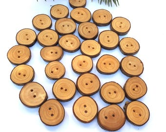 Olive Buttons Hard Wood Buttons Unusual Buttons Wooden Crafting Gift Hipster Buttons Eco Craft Supplies Set of 30, 1 Inch Buttons 2,5 cm