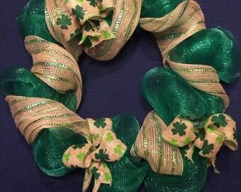 Burlap St. Patty's Day Wreath