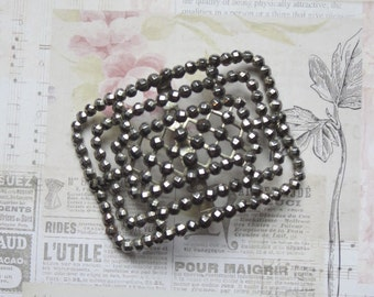 Vintage Cut Steel Shoe Buckle Made in France, Destash, For Repurposing Projects, Focal Jewelry Finding